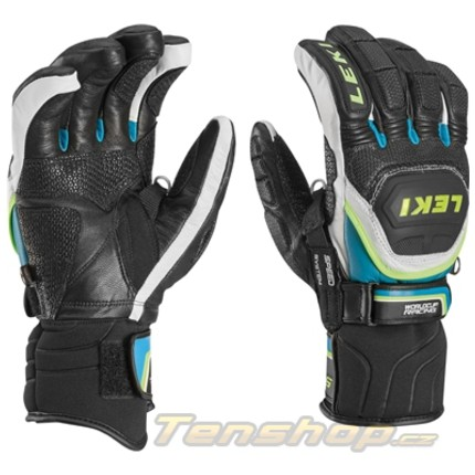 Lyžařské rukavice Leki Worldcup Race Flex S Speed System, cyan, 2016/17
