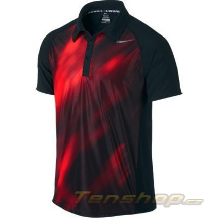 Pánské tenisové tričko Nike Advantage UV GFX Polo