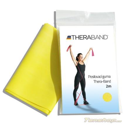 Posilovací guma Thera-band 2 m, slabá, žlutá