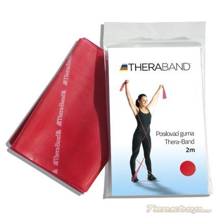 Tenis - Posilovací guma Thera-band 2 m, středně silná, červená