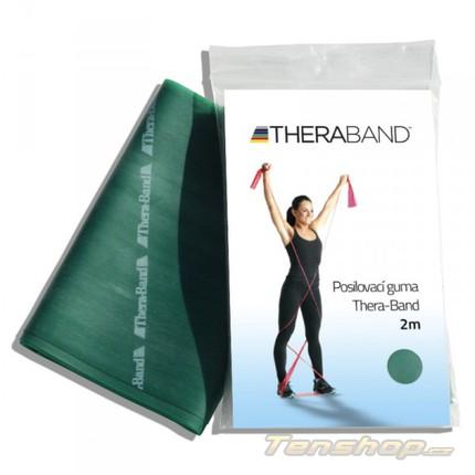 Posilovací guma Thera-band 2 m, silná, zelená
