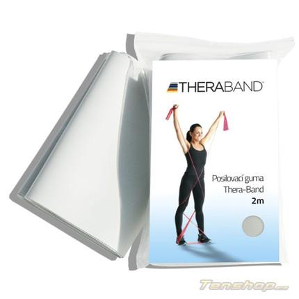 Posilovací guma Thera-band 2 m, super silná, stříbrná