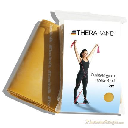 Tenis - Posilovací guma Thera-band 2 m, max. silná, zlatá
