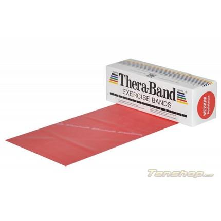 Posilovací guma Thera-band 5.5 m, středně silná, červená