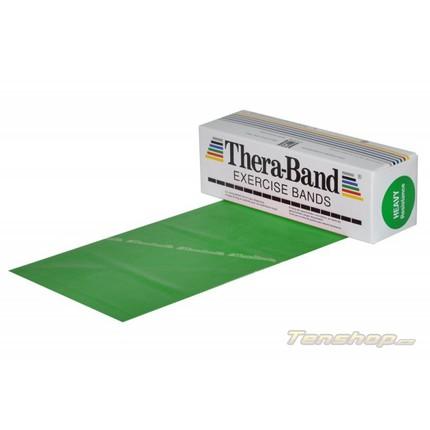 Posilovací guma Thera-band 5.5 m, silná, zelená
