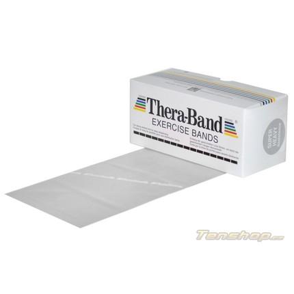 Posilovací guma Thera-band 5.5 m, super silná, stříbrná