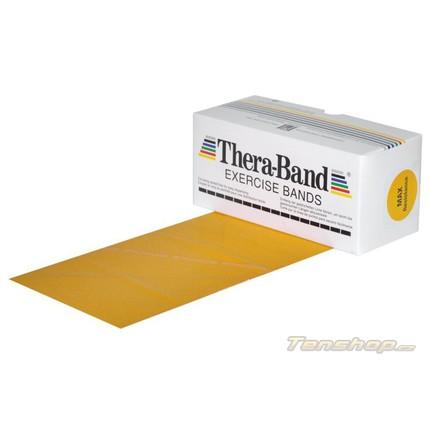 Posilovací guma Thera-band 5.5 m, max. silná, zlatá