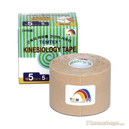 Tejpovací páska Temtex Kinesio tape Classic 5 cm, béžová