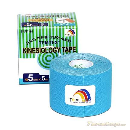 Tejpovací páska Temtex Kinesio tape Classic 5 cm, modrá