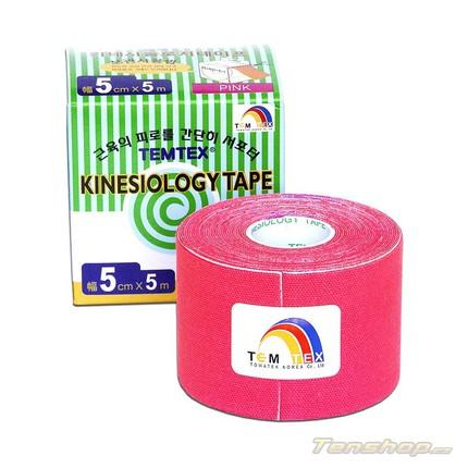 Tejpovací páska Temtex Kinesio tape Classic 5 cm, růžová