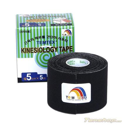 Tejpovací páska Temtex Kinesio tape Classic 5 cm, černá