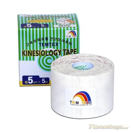 Tejpovací páska Temtex Kinesio tape Classic 5 cm, bílá