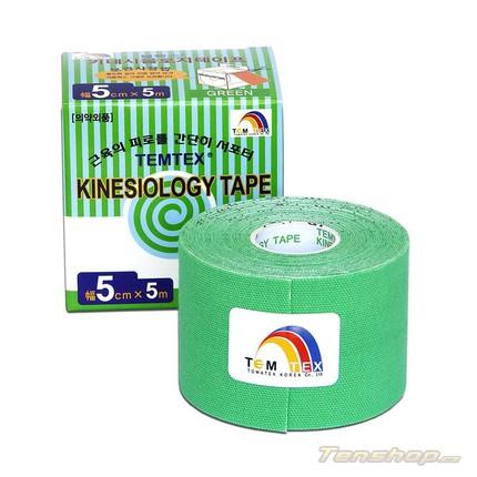 Tejpovací páska Temtex Kinesio tape Classic 5 cm, zelená