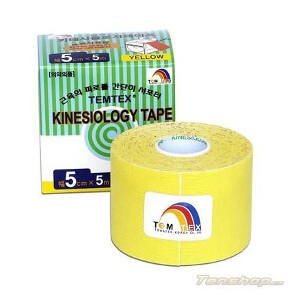 Tejpovací páska Temtex Kinesio tape Classic 5 cm, žlutá
