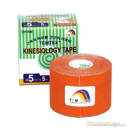 Tejpovací páska Temtex Kinesio tape Classic 5 cm, oranžová