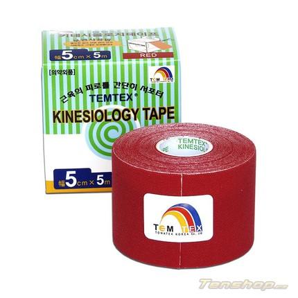 Tejpovací páska Temtex Kinesio tape Classic 5 cm, červená