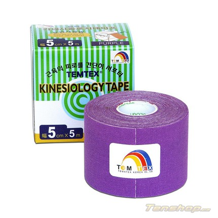 Tejpovací páska Temtex Kinesio tape Classic 5 cm, fialová