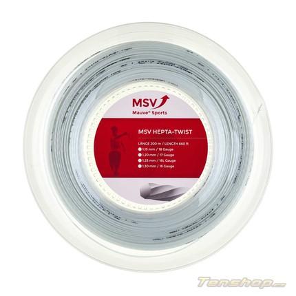 Tenisový výplet MSV Hepta-Twist 200m, white