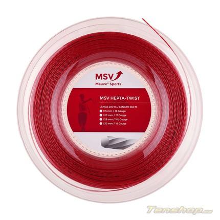 Tenisový výplet MSV Hepta-Twist 200m, red