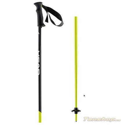 Lyžařské hole Head Airfoil black/neon/yellow 2016/17