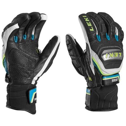 Lyžařské rukavice Leki Worldcup Race Ti. S Speed System, cyan, 2016/17