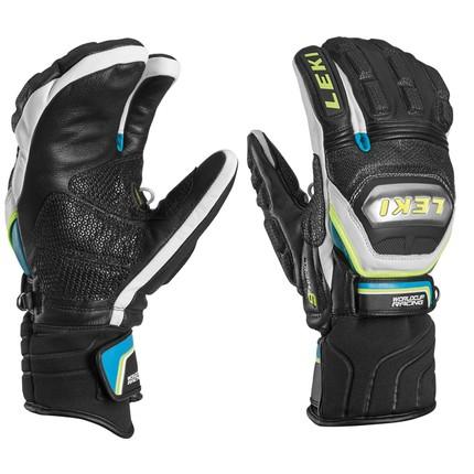 Lyžařské rukavice Leki Worldcup Race Ti. S Lobster Speed System, cyan, 2016/17