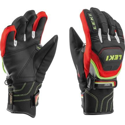 Dětské lyžařské rukavice Leki Worldcup Race Coach Flex S GTX Junior, red