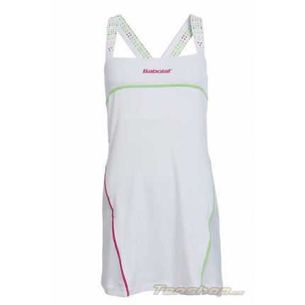 Tenisové šaty Babolat Match Performance Women Dress, white