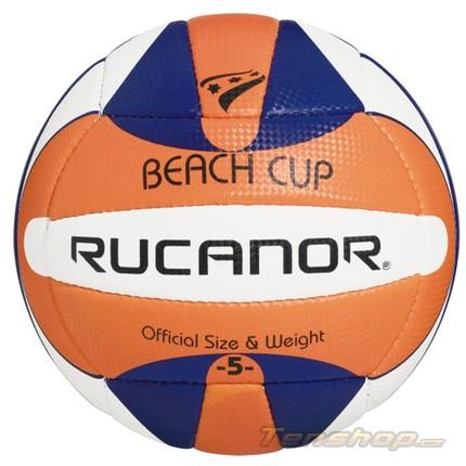Beach volejbalový míč Rucanor Beach cup III or/bl/wh