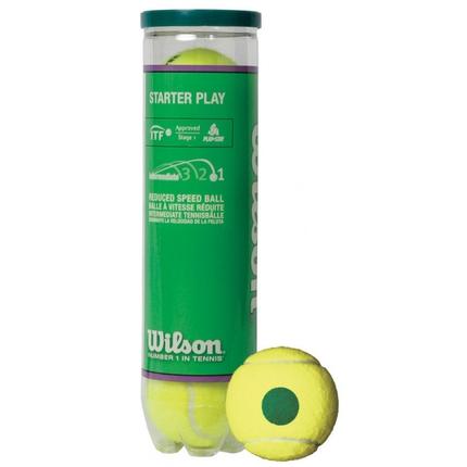 Dětské tréninkové míče Wilson Starter Play Green, 4 ks