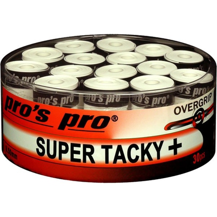 Tenis - Omotávky Pros Pro Super Tacky+ 30 ks, white