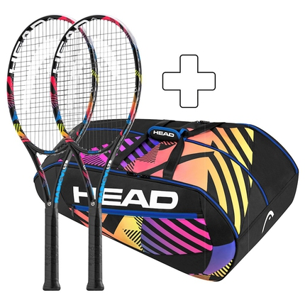 Tenisový paket Head 2 x Graphene XT Radical MP LTD + 1 x Monstercombi