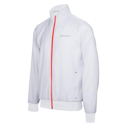Pánská tenisová bunda Babolat Core Men Jacket white, 2017