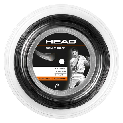 Tenisový výplet Head Sonic Pro 200m, 1.25 black