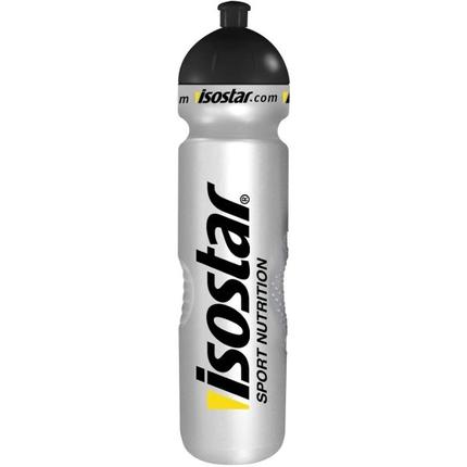 Láhev na pití Isostar 1000 ml, uzávěr cyklistický, stříbrná
