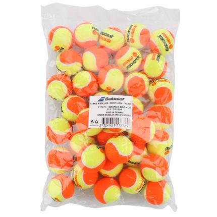 Dětské tréninkové míče Babolat Orange, 36 ks v plast. pytli