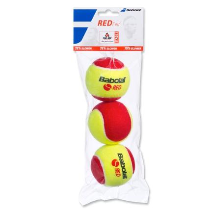 Dětské tréninkové míče Babolat Red Felt, 3 ks