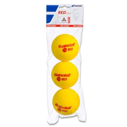 Dětské tréninkové míče Babolat Red Foam, 3 ks