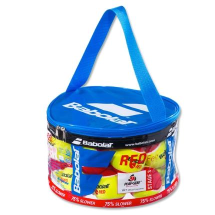 Dětské tréninkové míče Babolat Red Felt, 24 ks v plast. pytli