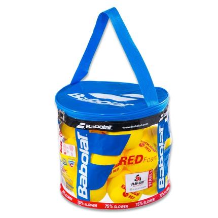 Dětské tréninkové míče Babolat Red Foam, 24 ks v plast. pytli