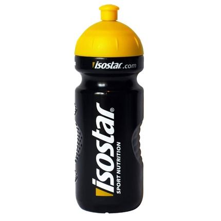 Láhev na pití Isostar 650 ml, uzávěr cyklistický, černá