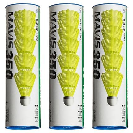 Badmintonové míče Yonex Mavis 350 yellow, 18 ks