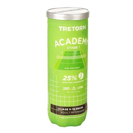 Dětské tréninkové míče Tretorn Academy Green, 3 ks
