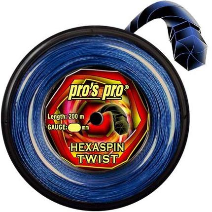 Tenisový výplet Pros Pro Hexaspin Twist 200m, blue