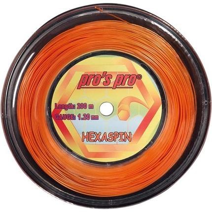 Tenisový výplet Pros Pro Hexaspin 200m, orange