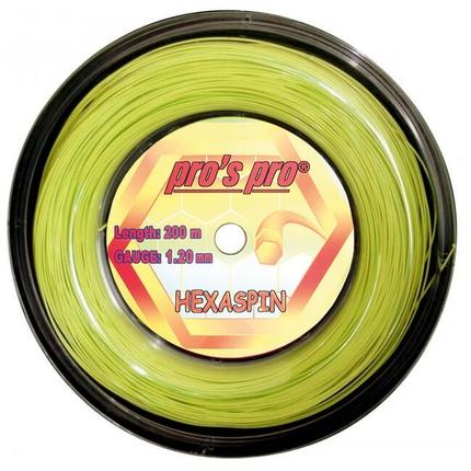 Tenisový výplet Pros Pro Hexaspin 200m, lime