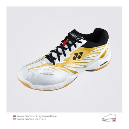 Halová obuv Yonex SHB-F1 LTD white/gold