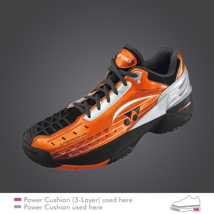 Pánská tenisová obuv Yonex SHT-308 Clay, black/orange
