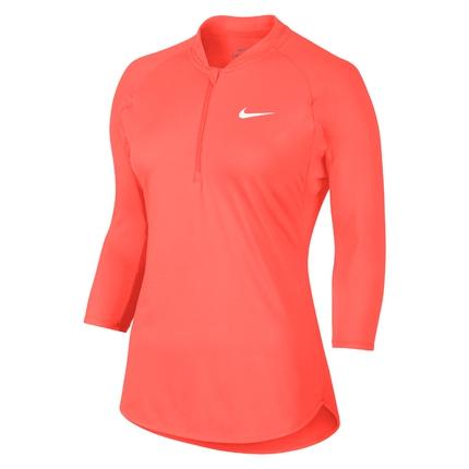 Dámské tenisové tričko Nike Court Dry Tennis Longsleeve, hyper orange
