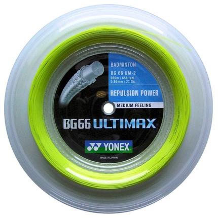 Badmintonový výplet Yonex BG 66 Ultimax, 200m, yellow
